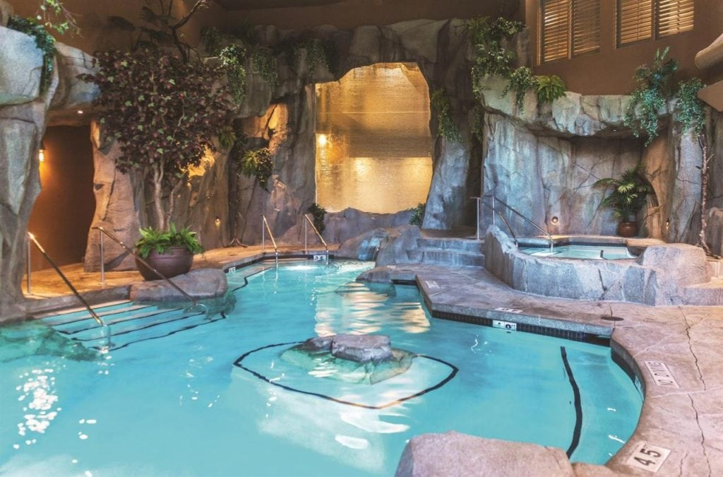 pools, jacuzzi and steam room